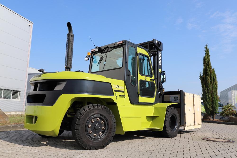 Clark has launched a new diesel forklift with a load capacity of 8 tons