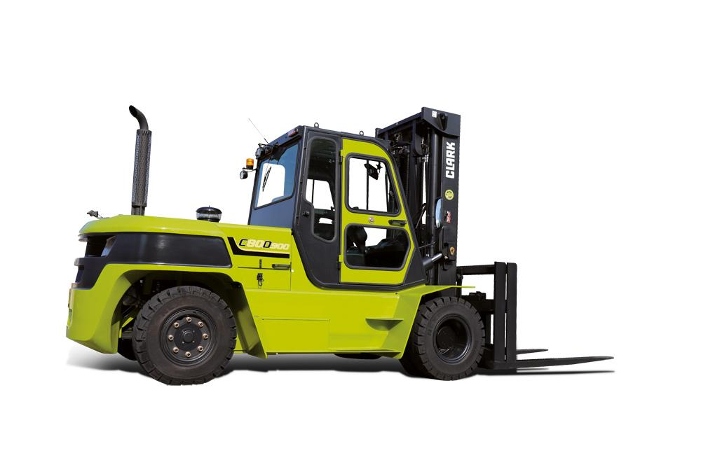FORKLIFT TRUCK WITH DIESEL DRIVE 80D900