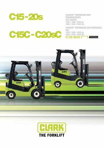 040 Brochure CLARK C15 20s FR B0510FKR
