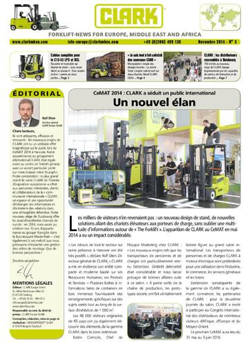 FR CLARK Forklift News 314