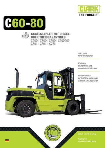 046 Brochure CLARK C60 80 DE B0612G