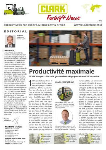 FR CLARK Forklift News 215