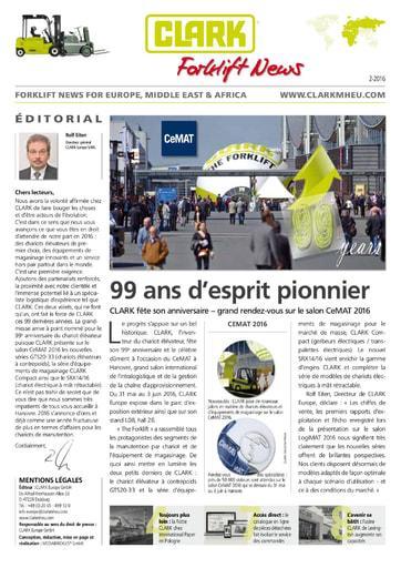 FR Clark Forklift News 13 05 16