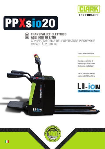 005 Brochure CLARK PPXsio20 IT xxxxxx