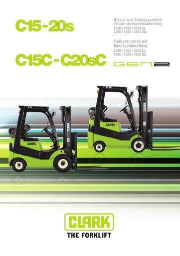 040 Brochure CLARK C15 20s DE B0510G