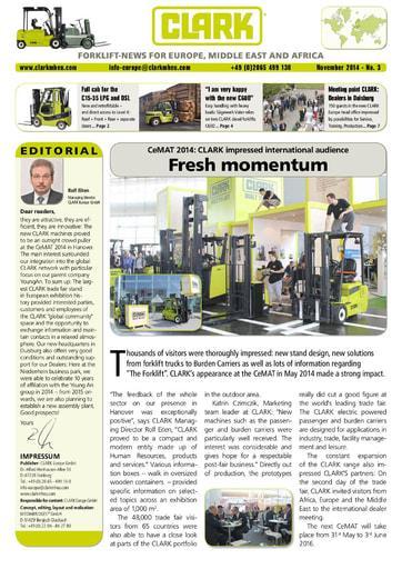 EN CLARK Forklift News 214