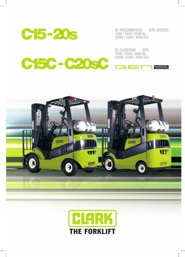 040 Brochure CLARK C15 20s IT B0407I