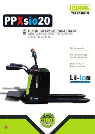005 Brochure CLARK PPXsio20 EN xxxxxx