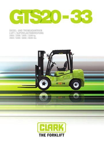 042 Brochure CLARK GTS20 33 DE 4579982