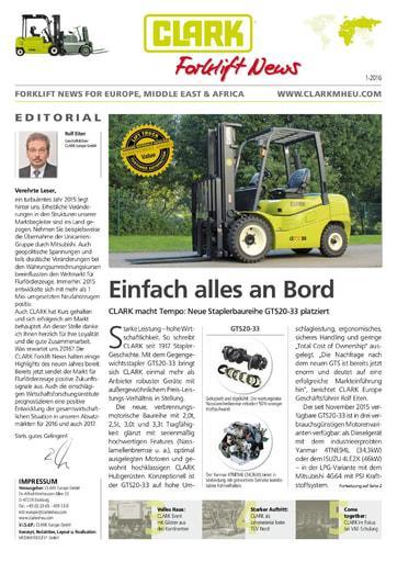 Clark Forklift News 116 deu