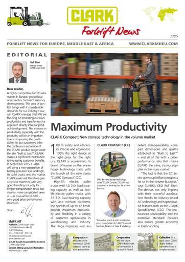 EN CLARK Forklift News 215